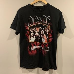 AC/DC Highway to Hell Rock Band T-Shirt - Medium